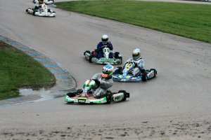The challenging US Air Motorsports Raceway corkscrew corner in the wet (Photo: EKN)