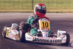 Danica during her final years in karting