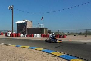 EKN's Rob Howden sampling an Innovative Karting ride at PKRA back in February
