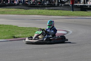 Trey nearing the end of another 24 hour karting event (Photo: Perry Herndon)