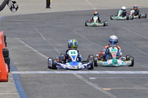 Carson Morgan earned a second straight victory in Junior 1 Comer (Photo: Kart Racer Media)