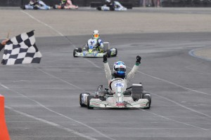 Joseph Daniele became the third different winner in the X30 Junior category this year (Photo: Kart Racer Media)