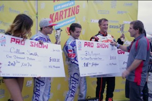 S1/S2 Pro podium with Billy Musgrave taking home $2,500 (Photo: KartRacerMedia.com)