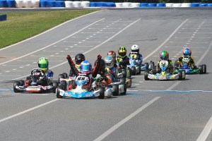 An amazing last race of the weekend in Yamaha Cadet with Nicholas Terlecki scoring the victory (Photo: EKN)