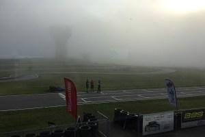 Fog delayed things Saturday with wet weather making on impact Sunday morning (Photo: EKN)