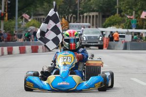 Anthony Honeywell notched three new class lap records, including the 125 Masters class he won (Photo: EKN)