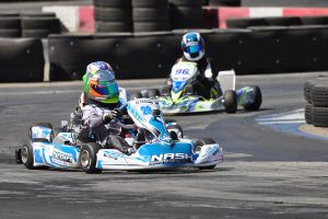 X30 Junior saw another great battle, this time with Trey Brown on the winning end (Photo: Kart Racer TV)