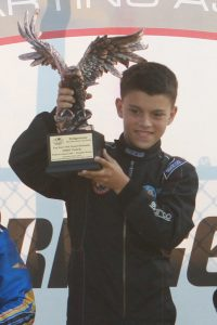 Maloney earned his first major trophy in the United States, winning the WKA Grand National Eagle in Yamaha Sportsman (Photo: eKartingNews.com)