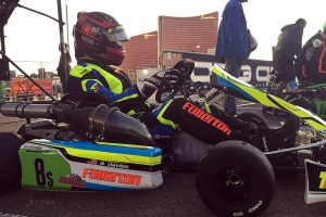 Brian Davies making the Fullerton TF2 shifterkart debut in the United States (Photo: EKN)
