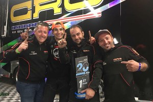 Euan Jeffrey (left) and Eddy Tinini (second from right) provide a direct link from the CRG factory to CRG Nordam, its dealer network and racers (Photo: CRG Nordam)