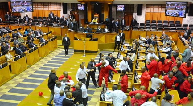 Parly turns to Street Boxing Movie with EFF Members receiving most PUNCHES - SEE PHOTOS