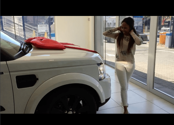 dineo ranaka spoils herself with new fancy car video ekasi news online. Black Bedroom Furniture Sets. Home Design Ideas