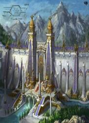 phoenix throne lothern walls ulthuan elf fantasy concept castle warhammer royal elves gate asur wall gates towers war