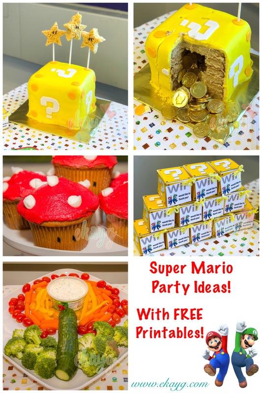 super mario diy birthday party ekayg