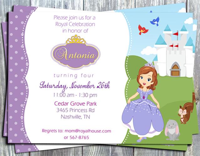 princess sofia the first birthday party