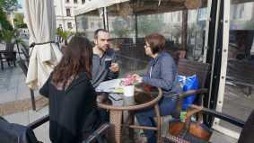 Neoficialus susitikimas su Bulgarijos universiteto tarptautiniu rysiu skyriaus direktoriaus pavaduotoju