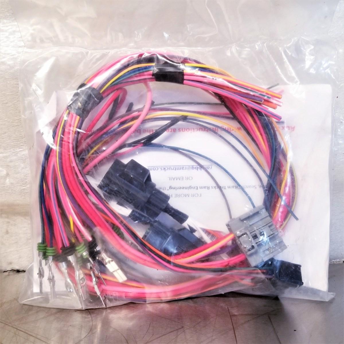 dodge ram aux switch upfitter wiring kit pac ekg diesel