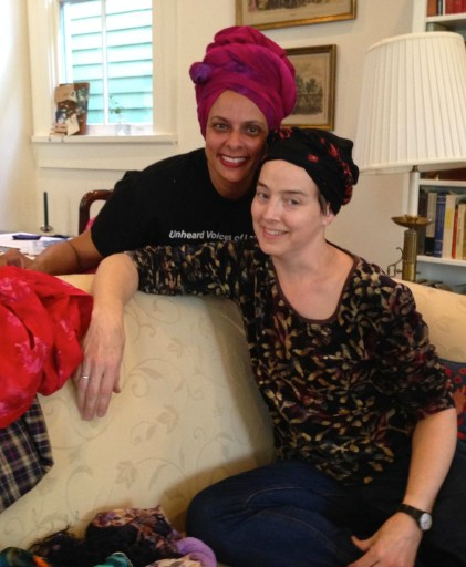 Dianne (with real tignon) and me with tignon-like scarf
