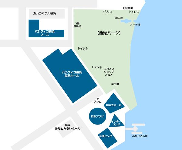 パシフィコ横浜施設郡map