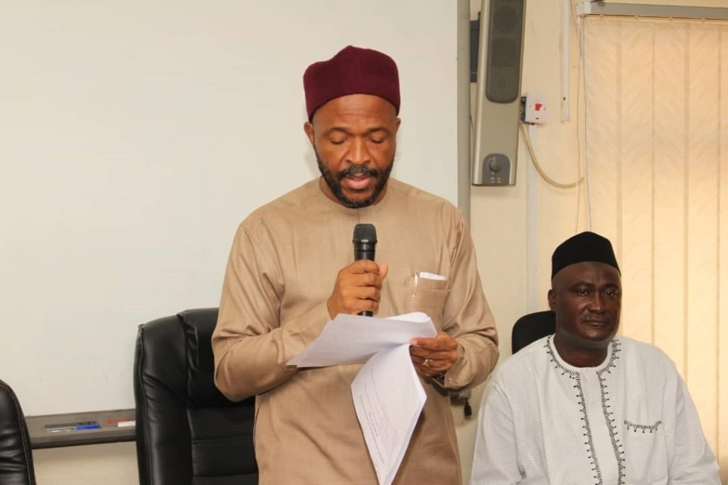 The Minister of State for Education Hon. Chukwuemeka Nwajiuba and the Director ICT at the Launch of Cisco Cyber Security Training for Staff