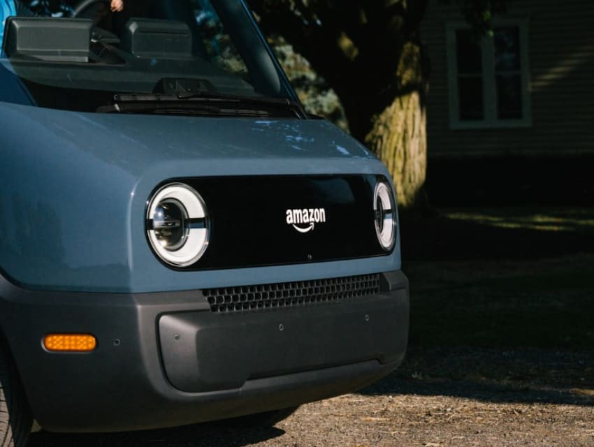 Amazon's new electric delivery vans created with Rivian unveiled