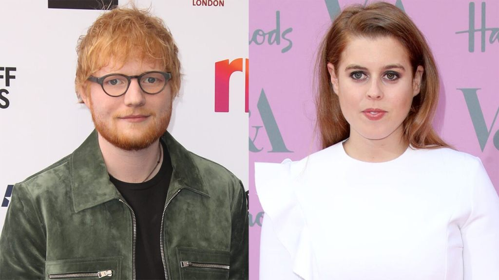 Ed Sheeran's face was cut by Princess Beatrice with a sword, star's manager claims