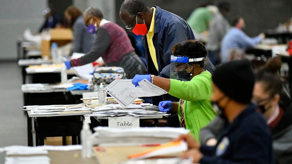 Georgia investigating vote counting delayed by flooding in Democratic county