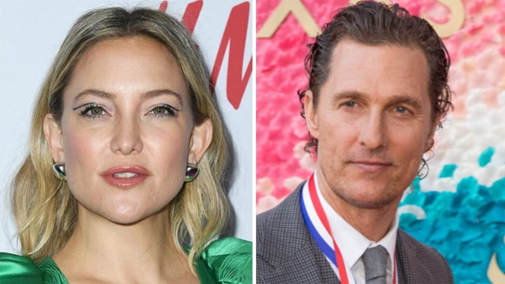 Matthew McConaughey responds to Kate Hudson's comments about their awkward on-screen kisses