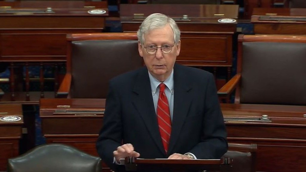 McConnell praises Trump for signing COVID-19, government funding bills