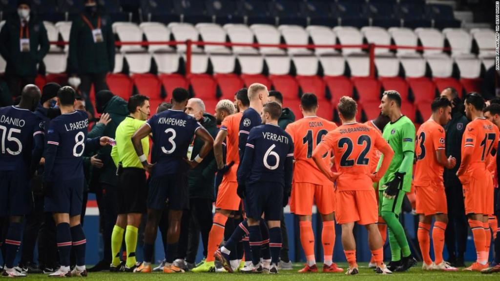 Paris Saint-Germain vs. Istanbul Basaksehir: Champions League game suspended after alleged 'racist' incident involving match official