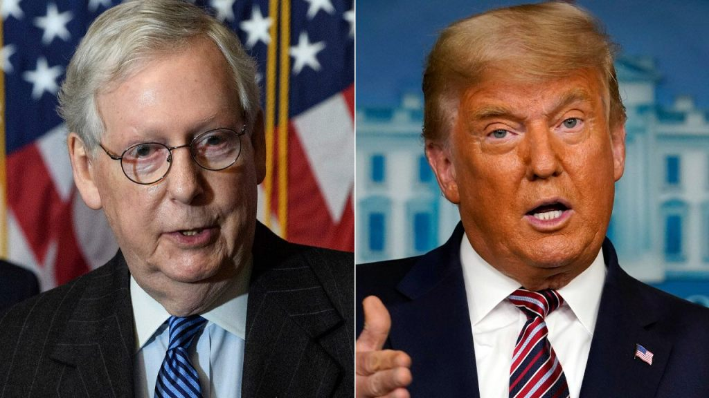 Trump accuses McConnell, others in GOP of failing to fight for him
