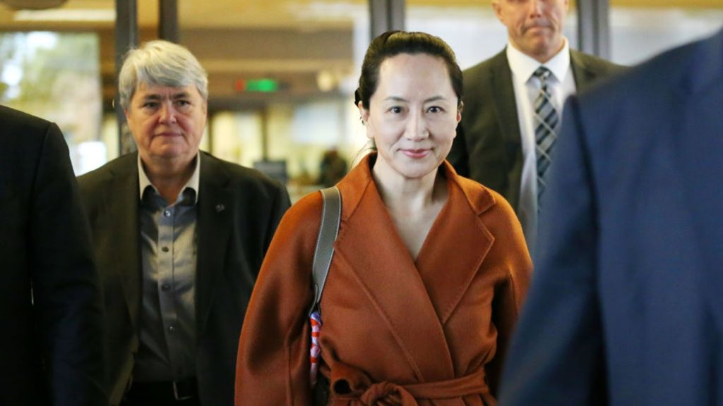 VANCOUVER, BC - SEPTEMBER 23: Huawei Technologies Co. Chief Financial Officer Meng Wanzhou leaves the British Columbia Superior Courts at lunch hour on September 23, 2019 in Vancouver, Canada. Meng was arrested by Canadian authorities last December on fraud charges and faces extradition to the United States. (Photo by Karen Ducey/Getty Images)