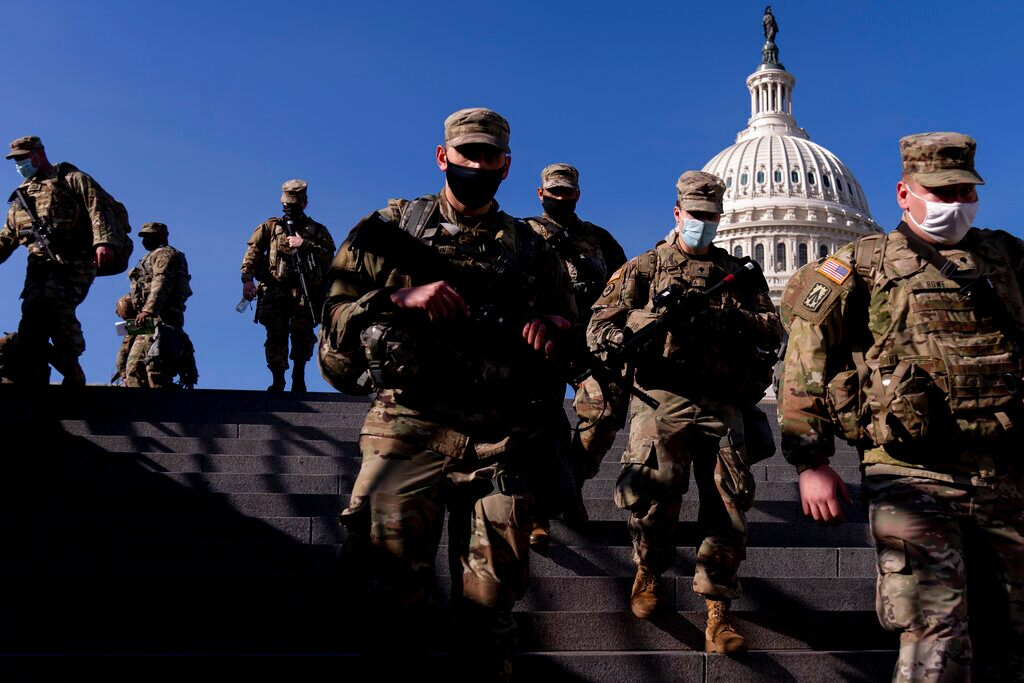 25,000 National Guard troops deployed to Capitol as Biden inauguration looms