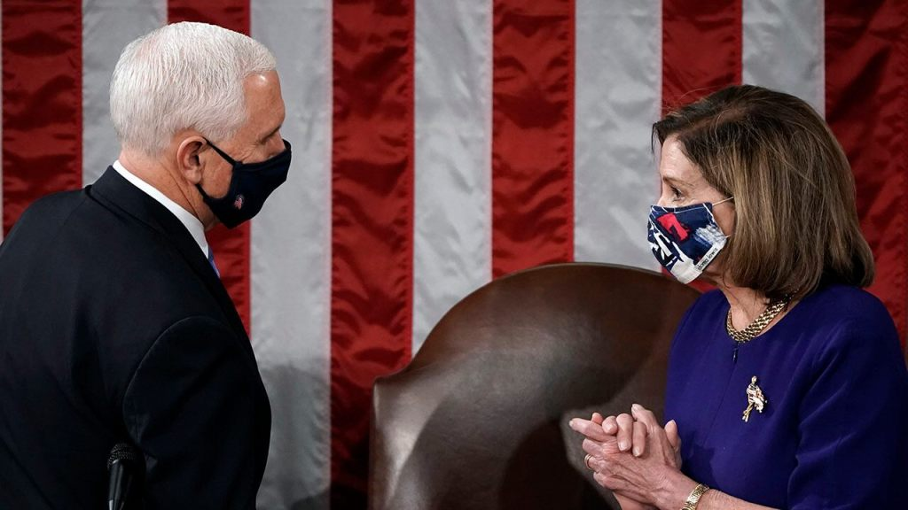 Pence uses Pelosi's own words to justify not invoking the 25th Amendment