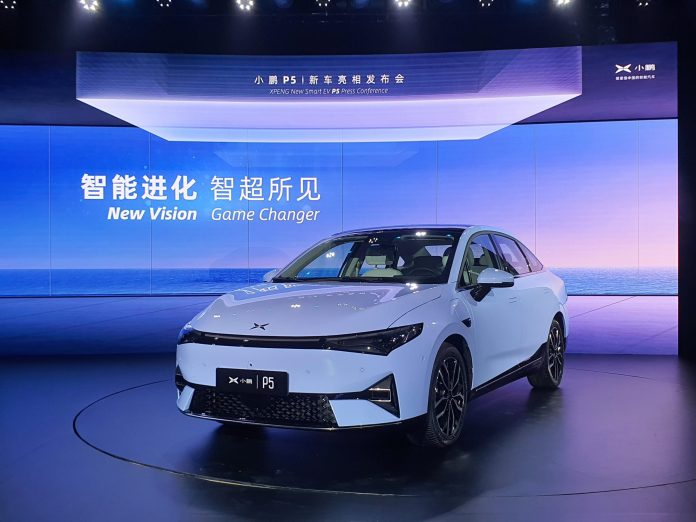 Xpeng Motors launches P5 Lidar electric car to rival Tesla in China