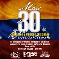 """Más de 30 cantantes, músicos y pastores cristianos cantan a su nación """"Mi Venezuela"""""""