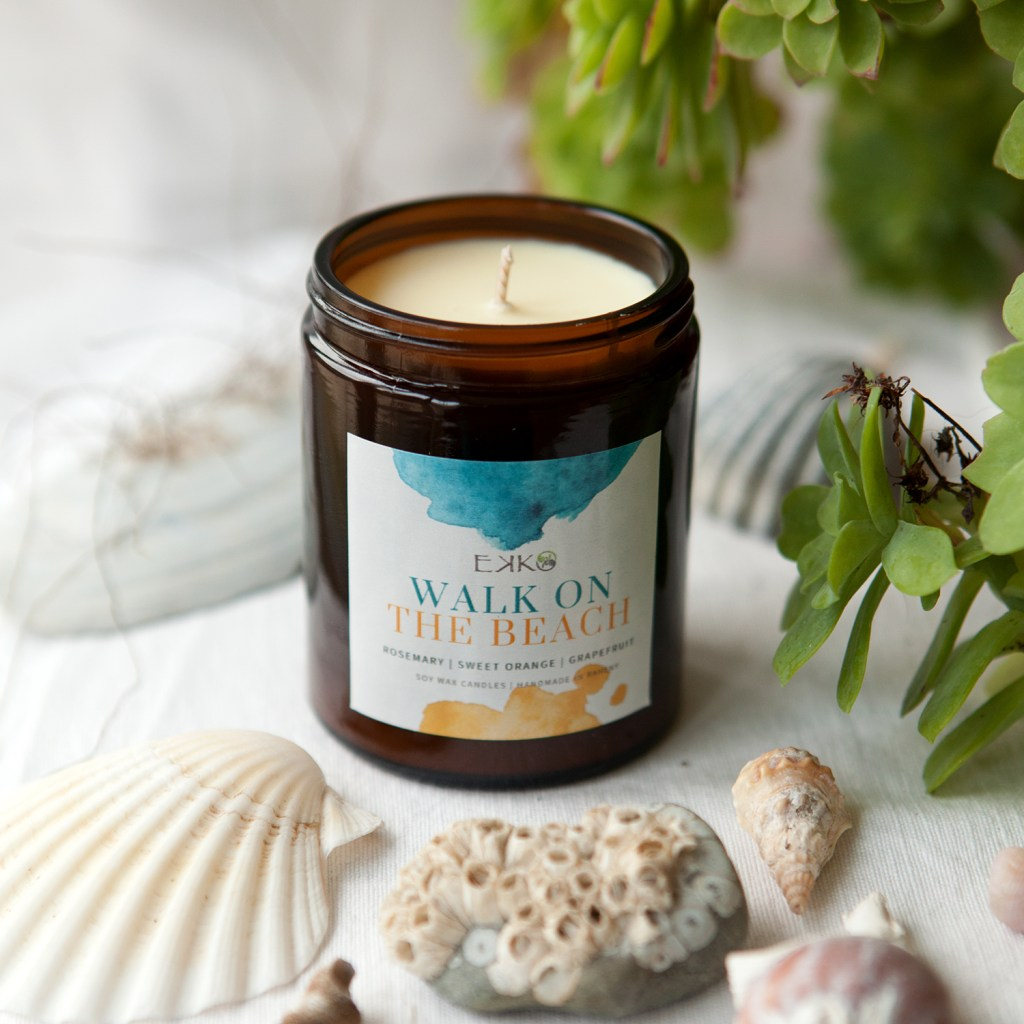 Walk On The Beach - Eco Soy Wax Candle