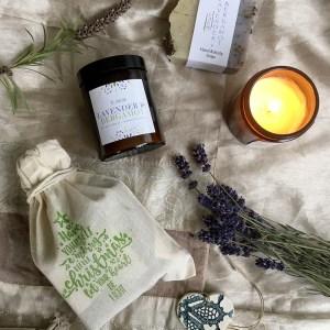 Lavender & Bergamot Soap and Candle Gift Set