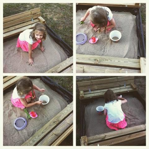 Les vacances continues un peu avec le bac à sable #wickey