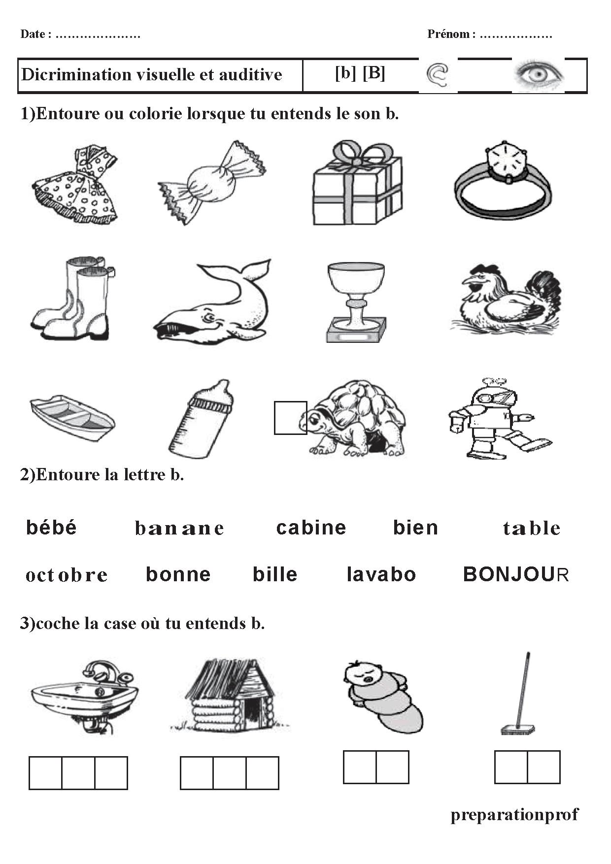 Sons Syllabes Phonologie Le Son B Lecture Code Exercice