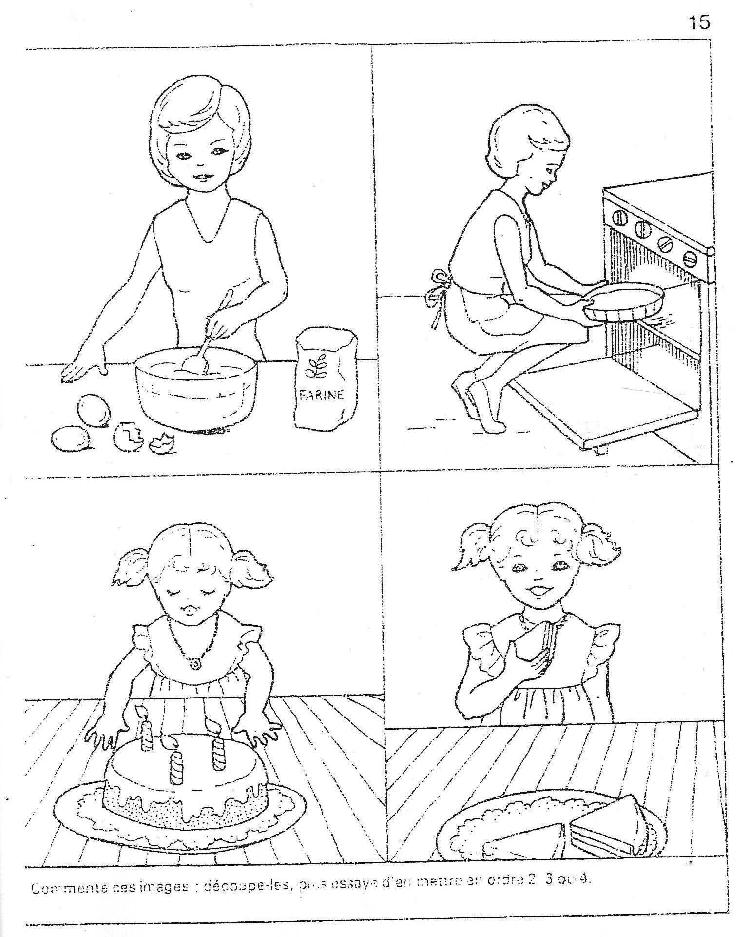 Images Sequentielles Maman Prepare Le Gateau D Anniversaire