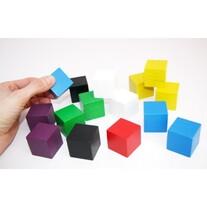 Cubes en bois 3 cm couleur pour jeu  30 x 30 x 30 mm