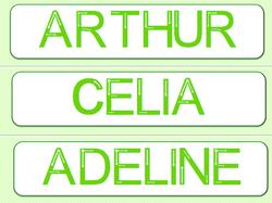Apprendre à écrire son prénom en majuscules