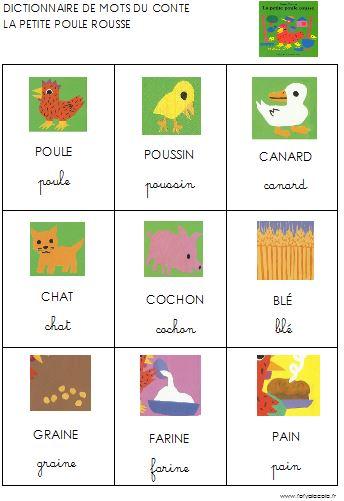 La Petite Poule Rousse Images Séquentielles : petite, poule, rousse, images, séquentielles, Petite, Poule, Rousse, Animaux, Ferme, L'école