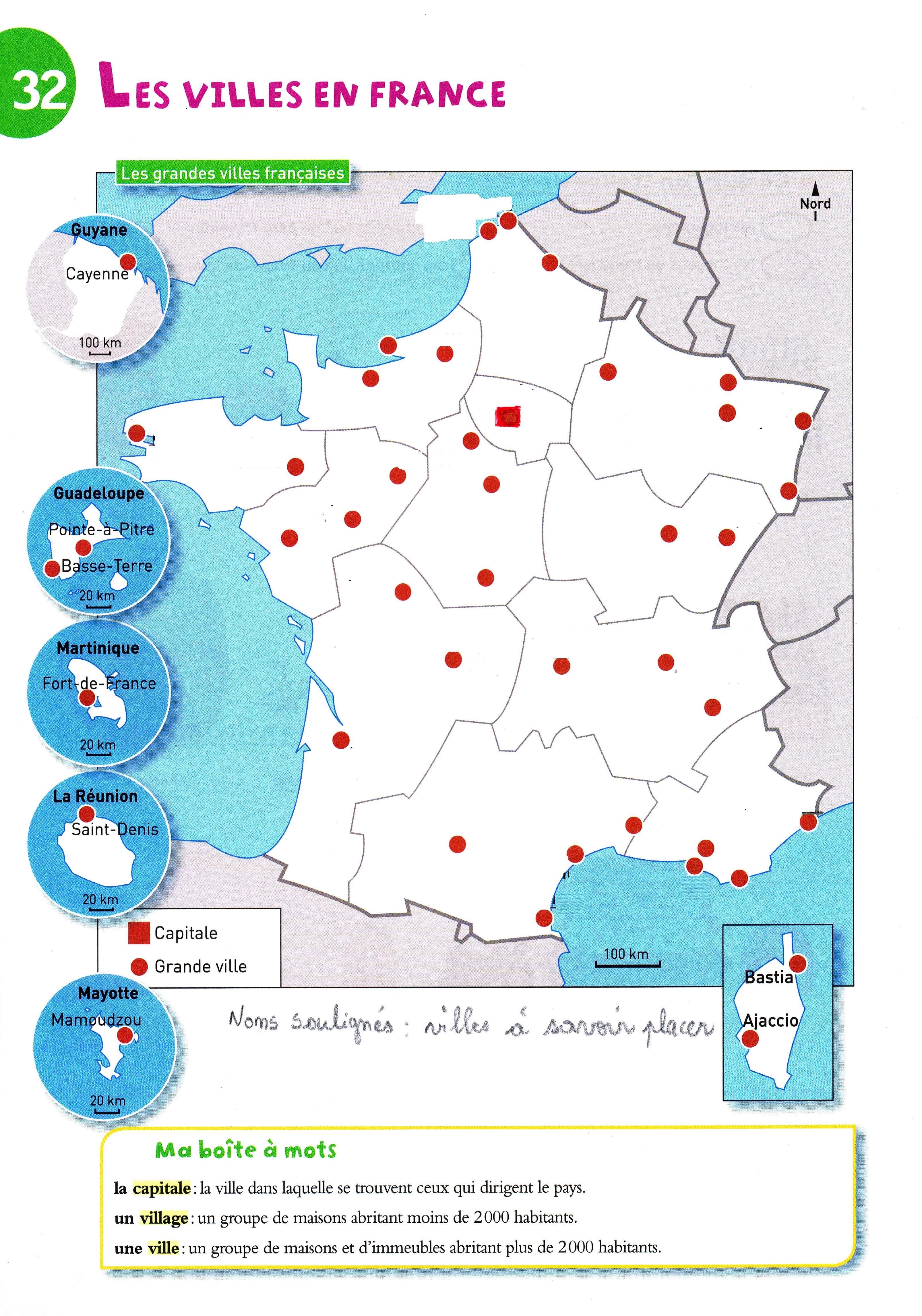Carte Grandes Villes De France : carte, grandes, villes, france, Villes, France, DUNES, D'OYE