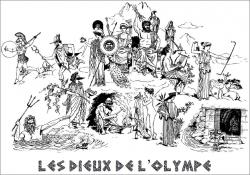 Affichage : les dieux de l'Olympe