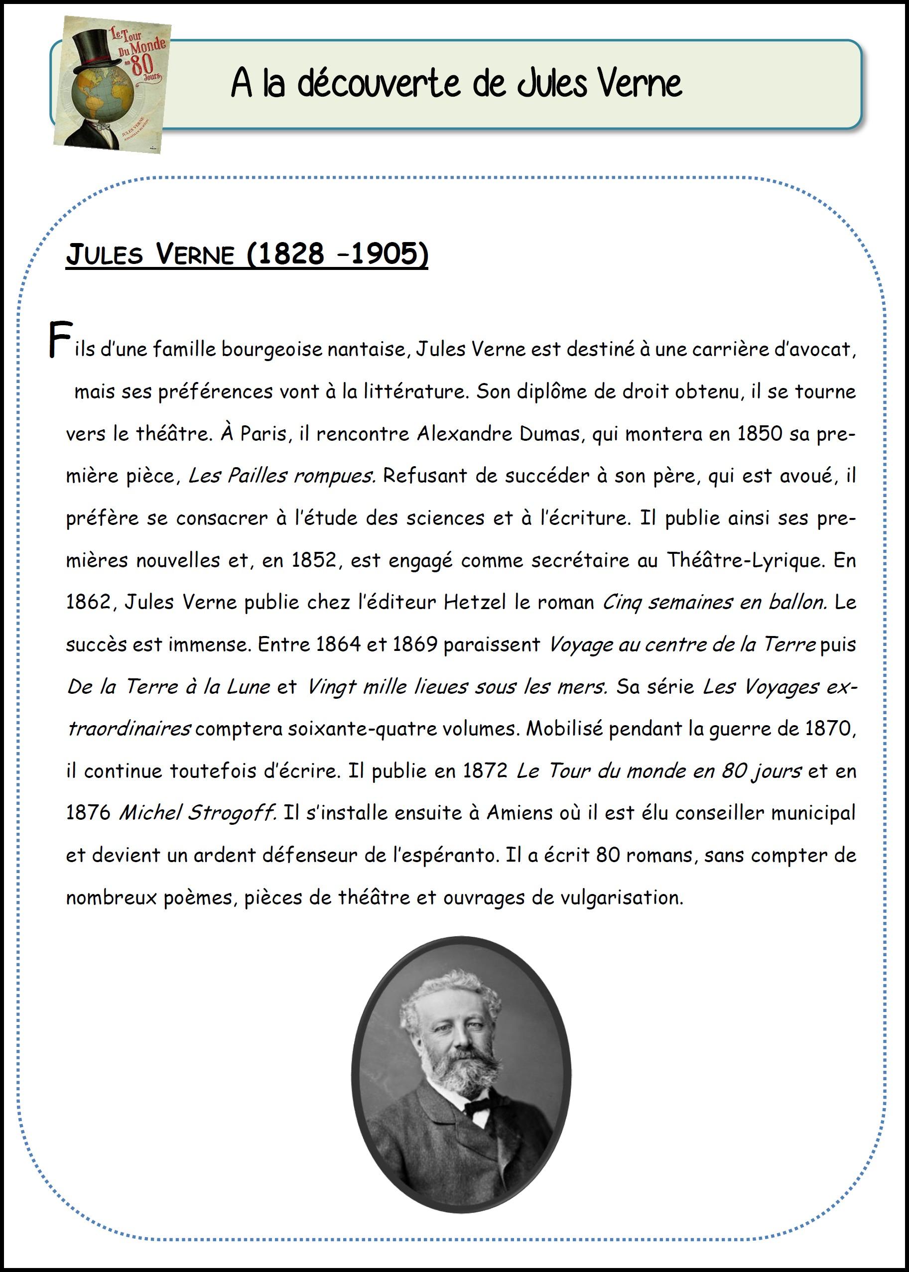Jules Verne Le Tour Du Monde En 80 Jours Questionnaire : jules, verne, monde, jours, questionnaire, Monde, Jours, MimiClass