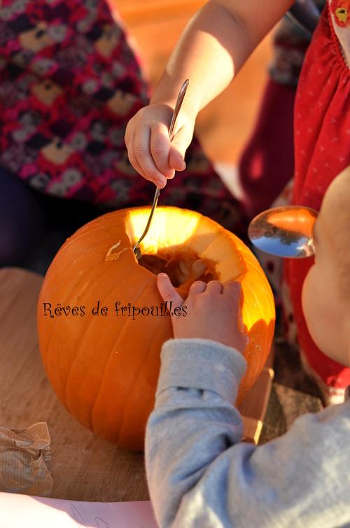 Jack o'lantern ou lanterne citrouille pour Halloween