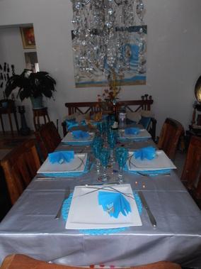 Table Turquoise Et Grise Tables Festives