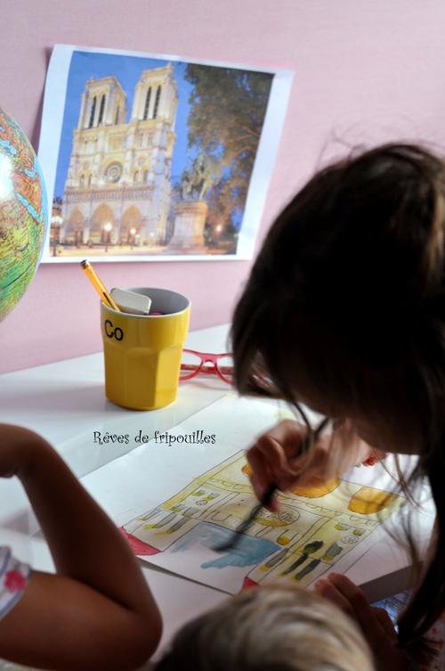Voyageons ludique - Peinture de Notre Dame de Paris
